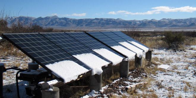 a napelemek elbírják a nagy havat MepeSolar